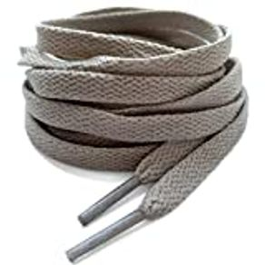 """WTHLC 2 Pair Flat Sneaker Shoelaces 5/16"""" Wide Shoestring for Canvas Running Shoe"""
